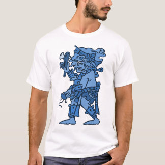 Camiseta Azul maia do deus da chuva