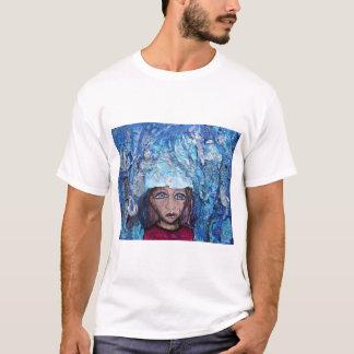 Camiseta Azul na chuva