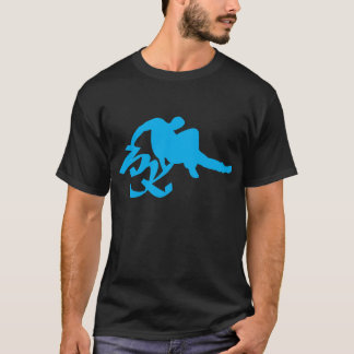 Camiseta Azul preguiçoso do PK
