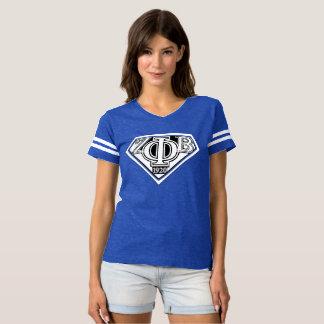 Camiseta azul super do zeta