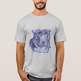 Camiseta (Azul tiranizado do esboço de Staffordshire bull