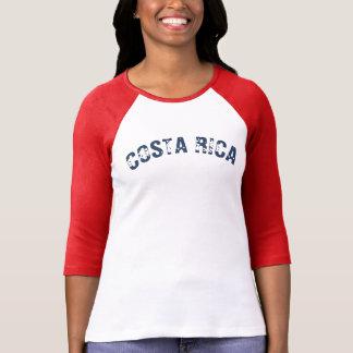 Camiseta Azul vermelho de Tica da soja de Costa Rica