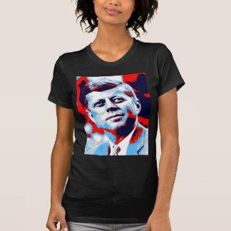 Camiseta Azul vermelho do pop art JFK John F. Kennedy