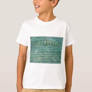 Camiseta azulejos azuis da cerceta