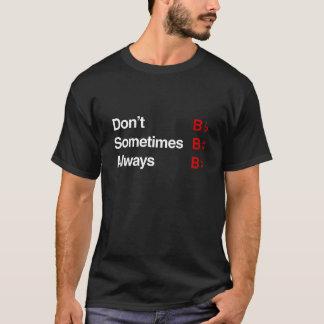"Camiseta ""B"" acidental"