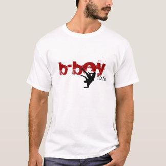 Camiseta b-menino para a vida (vermelho, preto)
