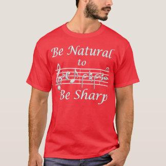 Camiseta B natural ao Sharp de B