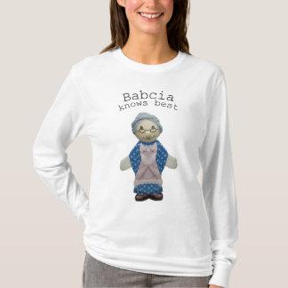 Camiseta Babcia sabe o melhor