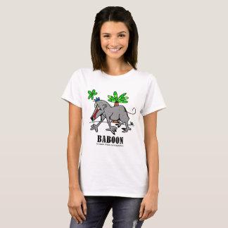 Camiseta Babuíno pelo t-shirt das mulheres de Lorenzo