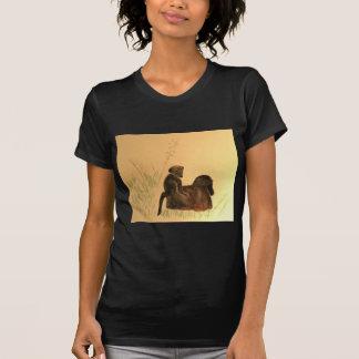 Camiseta Babuínos da mãe & do bebê - primatas dos macacos