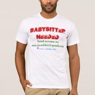 Camiseta Baby-sitter necessário