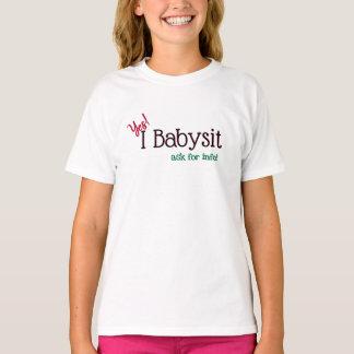 Camiseta Baby-sitter sim, eu Babysit