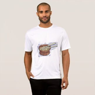 Camiseta Bacia de T do Active dos homens do arroz