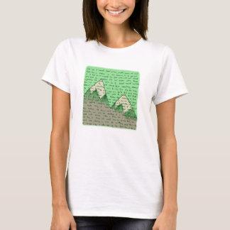 Camiseta bacia verde de poemas líricos das laranjas