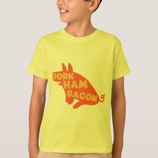 Camiseta bacon do presunto da carne de porco