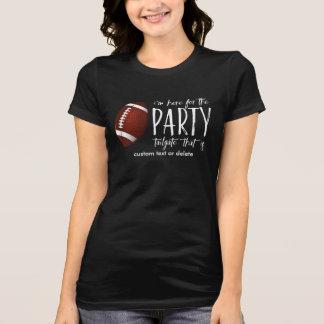 Camiseta Bagageira engraçada do futebol aqui para o costume