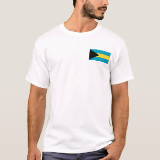 Camiseta Bahamas embandeiram e traçam o t-shirt