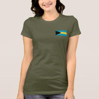 Camiseta Bahamas embandeiram e traçam o t-shirt da DK