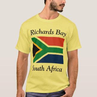 Camiseta Baía de Richards, África do Sul com sul - bandeira