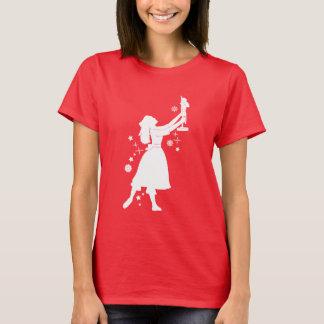 Camiseta Bailarina e Nutcracker no Natal
