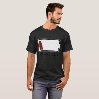 Camiseta Baixa bateria que mostra a baixa paciência deixada
