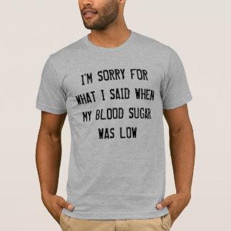 Camiseta Baixo açúcar no sangue