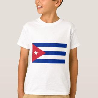 Camiseta Baixo custo! Bandeira de Cuba