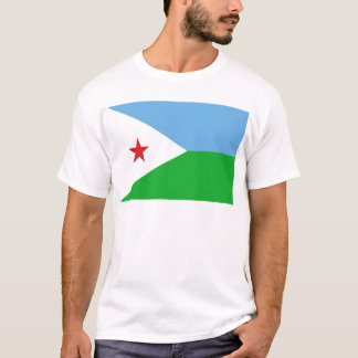 Camiseta Baixo custo! Bandeira de Djibouti