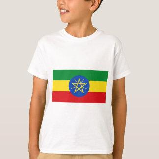 Camiseta Baixo custo! Bandeira de Etiópia
