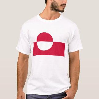 Camiseta Baixo custo! Bandeira de Greenland