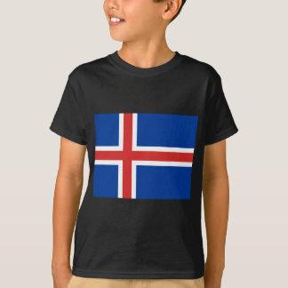 Camiseta Baixo custo! Bandeira de Islândia