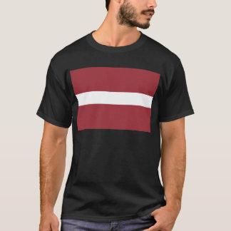 Camiseta Baixo custo! Bandeira de Latvia
