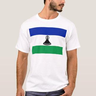Camiseta Baixo custo! Bandeira de Lesotho