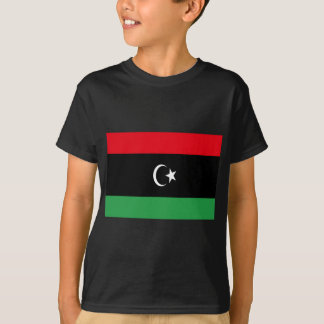 Camiseta Baixo custo! Bandeira de Líbia