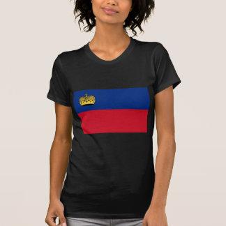 Camiseta Baixo custo! Bandeira de Liechtenstein