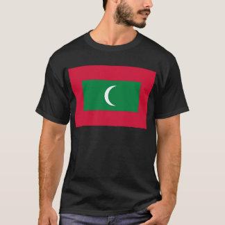 Camiseta Baixo custo! Bandeira de Maldives