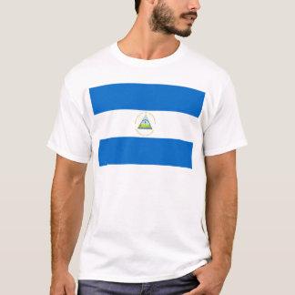 Camiseta Baixo custo! Bandeira de Nicarágua
