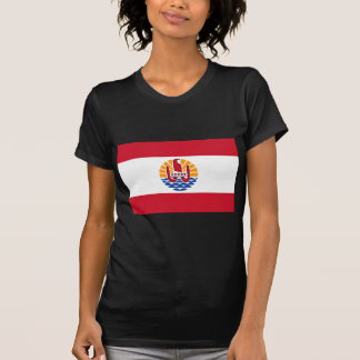 Camiseta Baixo custo! Bandeira de Polinésia francesa