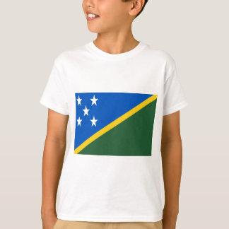 Camiseta Baixo custo! Bandeira de Solomon Island