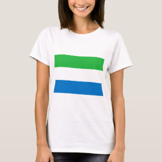 Camiseta Baixo custo! Bandeira do Sierra Leone