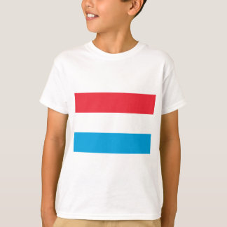 Camiseta Baixo custo! Luxembourg embandeira
