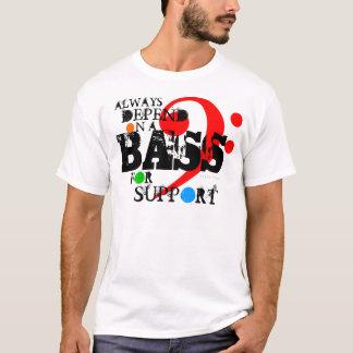 Camiseta Baixo do t-shirt do coro para a cor do apoio 11