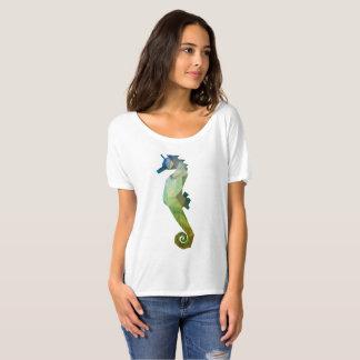 Camiseta Baixo t-shirt poli do cavalo marinho