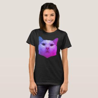 Camiseta Baixo t-shirt poli do gato
