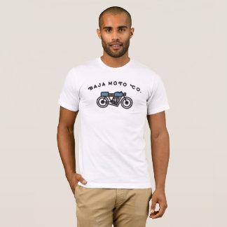 Camiseta Baja Moto Co. - piloto do café da velha escola