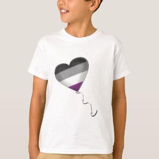 Camiseta Balão assexuado do coração do orgulho