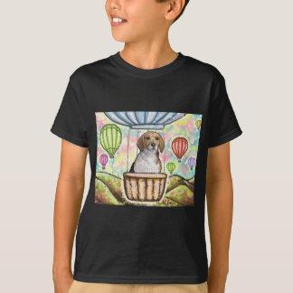 Camiseta - balão quente do cabelo