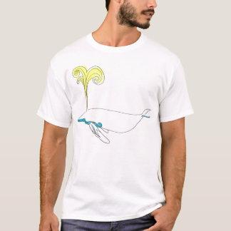 Camiseta baleia amarela