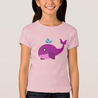 Camiseta Baleia cor-de-rosa & roxa