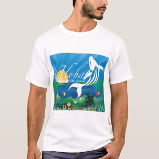 Camiseta Baleia das ilhas de Havaí Aloha